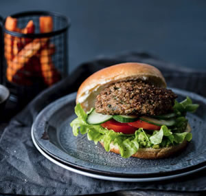 Lentil and Walnut Burger (Vegan)