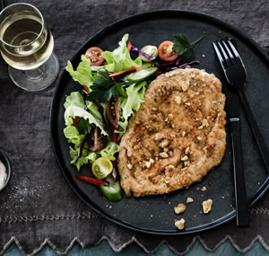 Walnut & Pecorino Chicken Schnitzel
